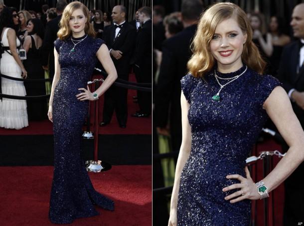 AMY ADAMS OSCARS 2011 610x453 Najdrahšie šaty a šperky na Oscaroch