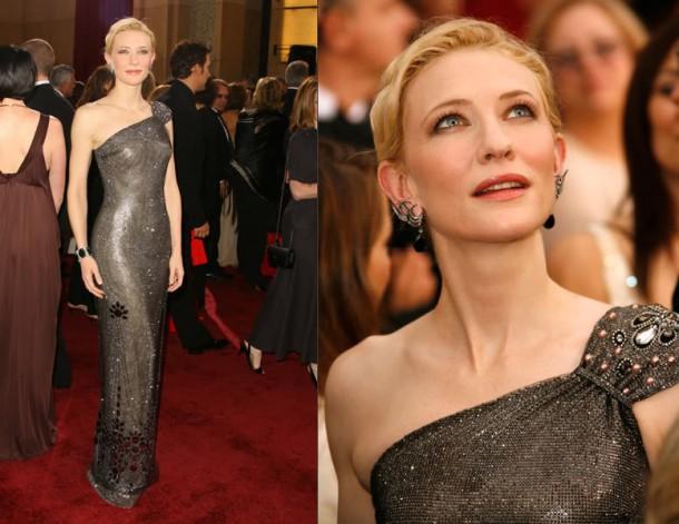 BestDressedTFS CateBlanchett Oscars 610x471 Najdrahšie šaty a šperky na Oscaroch