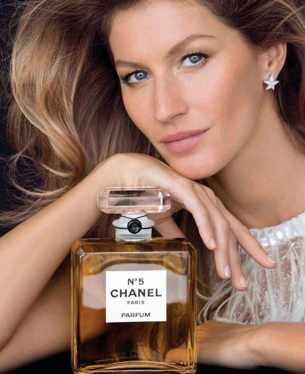 GISELE BUNDCHEN Chanel No. 5 Promos 1 610x748 Gisele Bündchen odchádza z prehliadkových mól