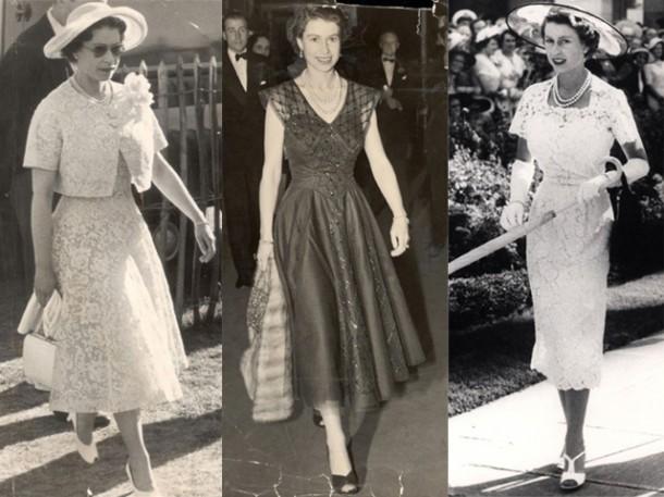 young Queen Elizabeth 610x457 Kráľovská móda: Najlepšie outfity kráľovnej Alžbety II.