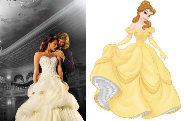 243 BelleImage 450x633 610x401 Svadobné šaty podľa Disney rozprávok