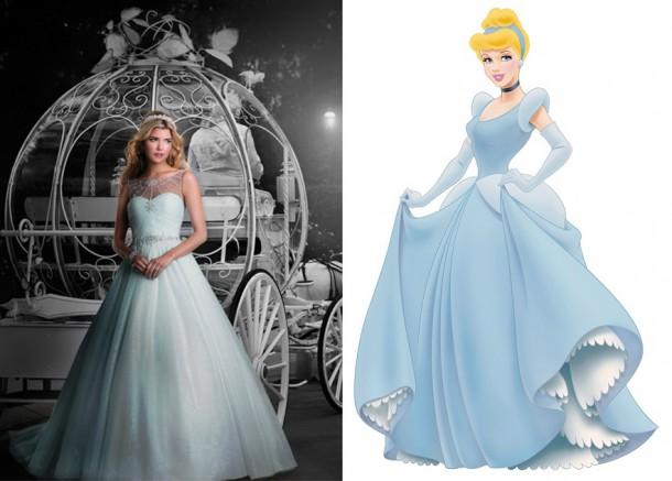 244 CinderellaImage 450x633 610x437 Svadobné šaty podľa Disney rozprávok