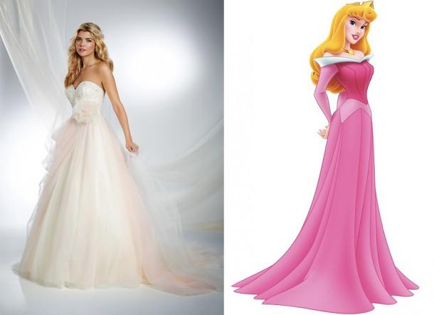 245 SleepingBeautyF1 450x633 610x442 Svadobné šaty podľa Disney rozprávok