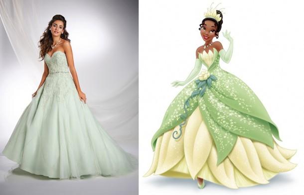 246 TianaF1 450x633 610x392 Svadobné šaty podľa Disney rozprávok