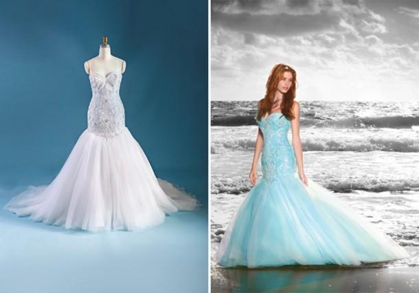 ariel249 form f 450x633 610x427 Svadobné šaty podľa Disney rozprávok