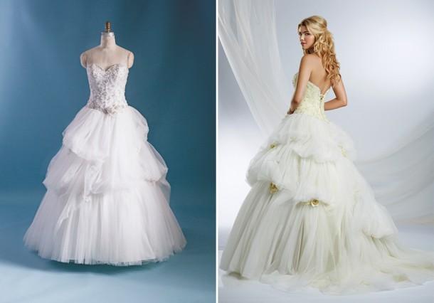 belle243 form f 450x633 610x426 Svadobné šaty podľa Disney rozprávok