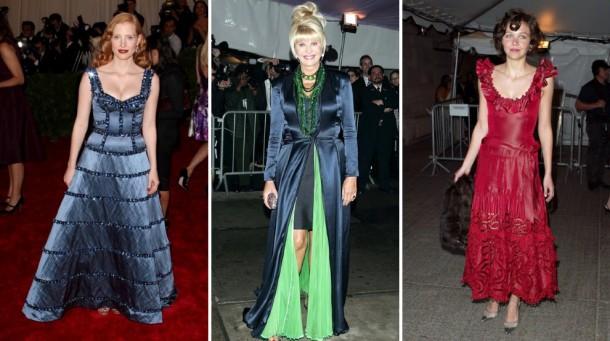 jesschastain 2012  2898563a 610x341 Najhoršie šaty na Met Ball