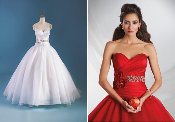snowwhite250 form f 450x633 610x427 Svadobné šaty podľa Disney rozprávok