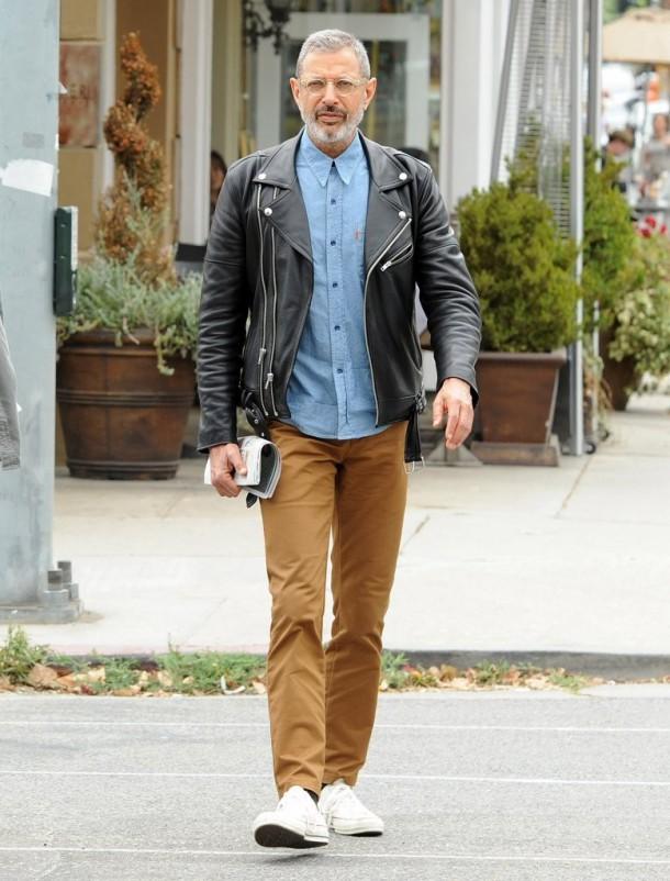 Jeff Goldblum Levis Orange Tab Denim Shirt 2 610x802 Najštýlovejší muži podľa GQ