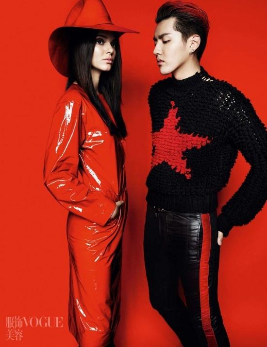 kris wu yi fan kendall jenner vogue china june 2015 photoshoot Kendall Jenner pre Vogue China