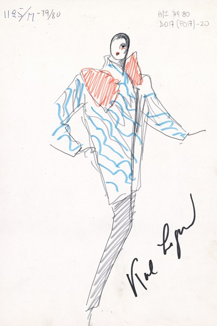 Fendi sketch 10 vogue 6jul15 Fendi 426x639 Karl Lagerfeld a Fendi