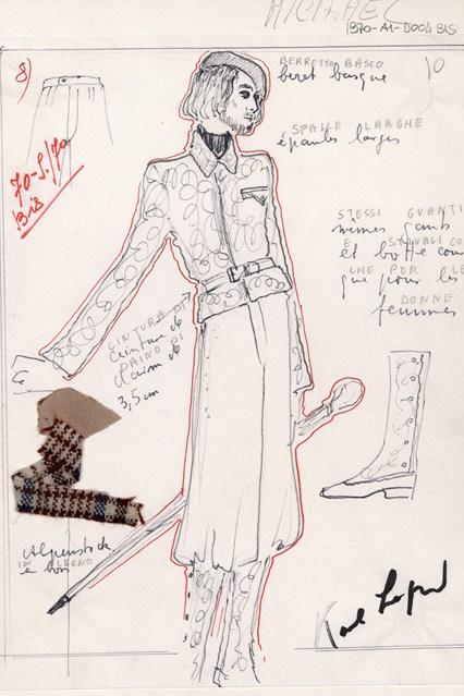 Fendi sketch 12 vogue 6jul15 Fendi 426x639 Karl Lagerfeld a Fendi
