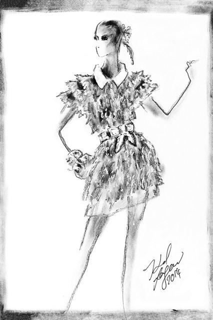 Fendi sketch 16 vogue 6jul15 Fendi 426x639 Karl Lagerfeld a Fendi