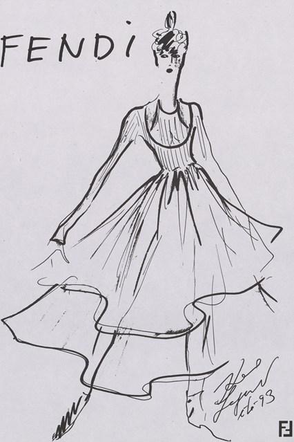 Fendi sketch 20 vogue 6jul15 Fendi 426x639 Karl Lagerfeld a Fendi