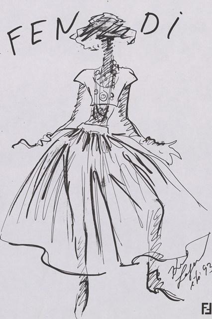 Fendi sketch 3 vogue 6jul15 Fendi 426x639 Karl Lagerfeld a Fendi