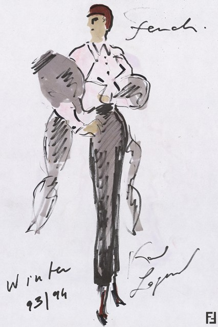 Fendi sketch 6 vogue 6jul15 Fendi 426x639 Karl Lagerfeld a Fendi