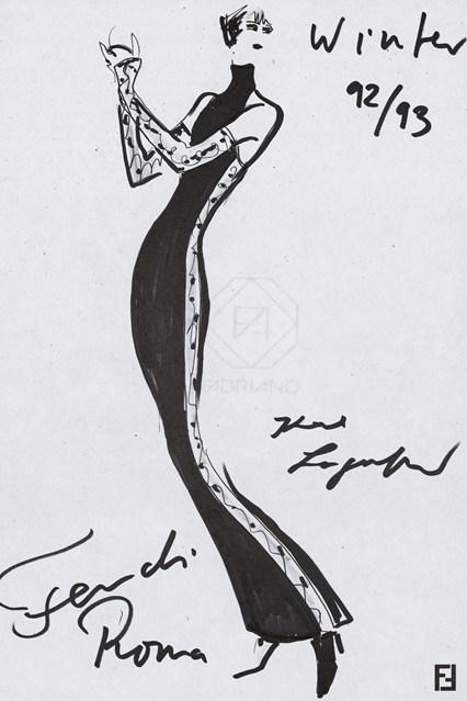 Fendi sketch 9 vogue 6jul15 Fendi 426x639 Karl Lagerfeld a Fendi
