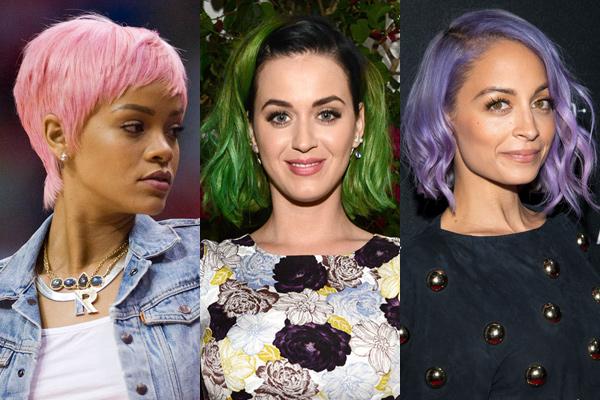 celebrity bright coloured hair Trend: Farbičky čarbičky