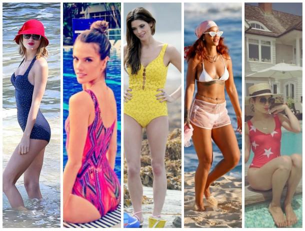 collage 610x463 Ako si vybrať plavky: celebritné tipy