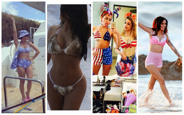 collage10 610x384 Ako si vybrať plavky: celebritné tipy