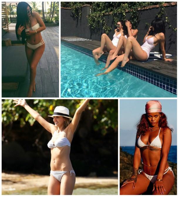 collage2 610x670 Ako si vybrať plavky: celebritné tipy