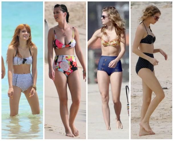 collage3 610x494 Ako si vybrať plavky: celebritné tipy