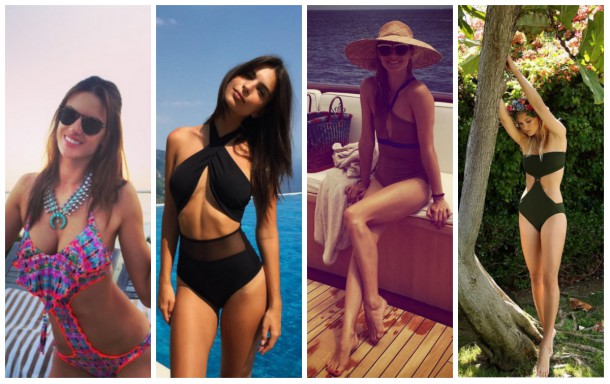 collage6 610x384 Ako si vybrať plavky: celebritné tipy