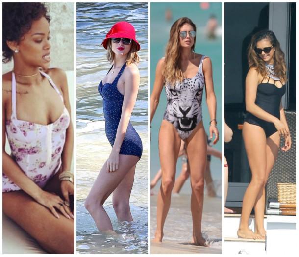 collage7 610x524 Ako si vybrať plavky: celebritné tipy