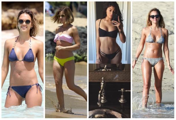 collage9 610x414 Ako si vybrať plavky: celebritné tipy