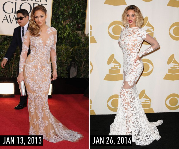 1435670004 syn hbz 1435600775 white lace naked dress 610x506 Hviezdne vojny: Jennifer Lopez vs. Beyoncé