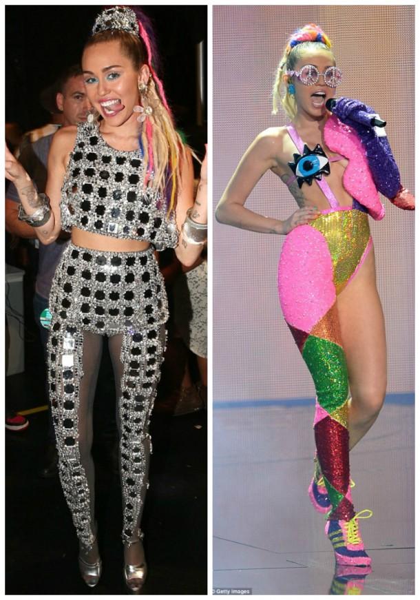 collage5 610x871 Módny (s)hit: Miley Cyrus na MTV VMA 2015