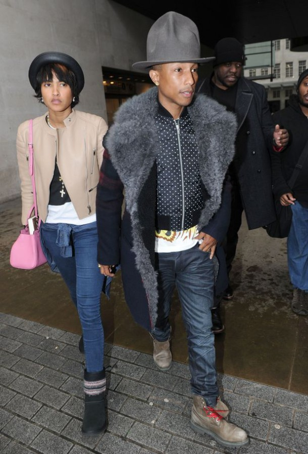 pharrell london big hat 610x899 Štýlová dvojka: Pharrell a Helen