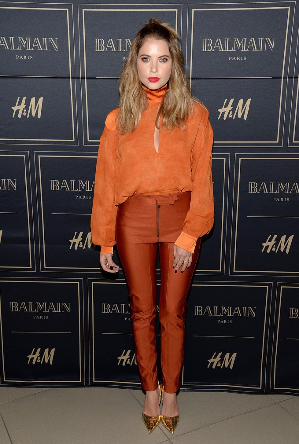 Stars Showed Off Glam HM Looks 610x903 BALMAIN X H&M: módne šialenstvo