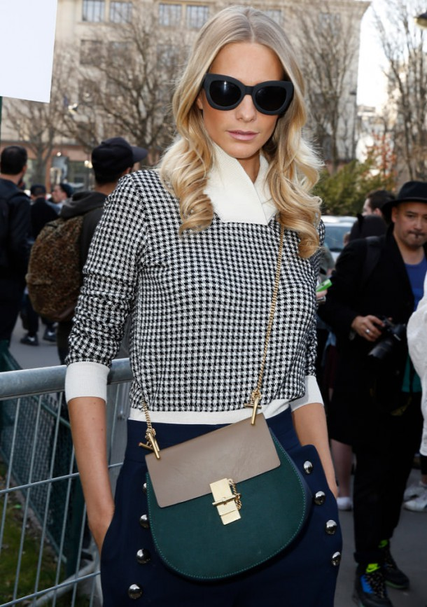 The Many Bags of Paris Fashion Week Fall 2015 Celebrity Attendees 24 610x867 Ikonická kabelka roka: Chloé Drew bag