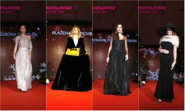 collage2 610x366 Bratislavské módne dni: Módna prehliadka plesových šiat