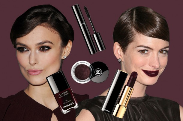 "idee trucco natale 2015 610x405 Make up trendy: 2 zimné líčenia so ""Chanel Rouge Noir Absolument collection"""