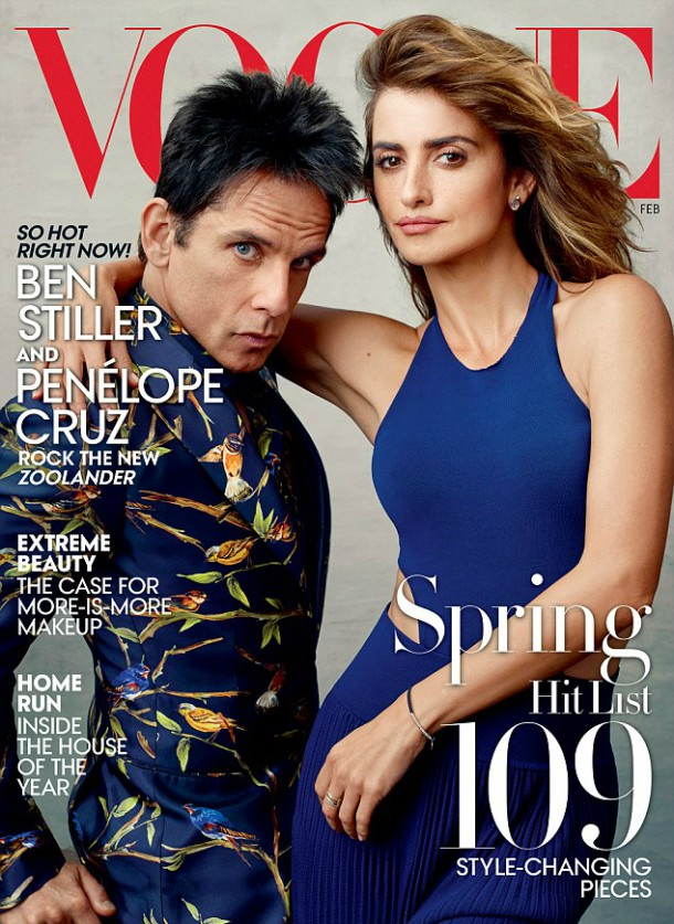 303228B700000578 0 image a 26 1452872317247 610x837 Derek Zoolander a Penelope Cruz na obálke Vogue