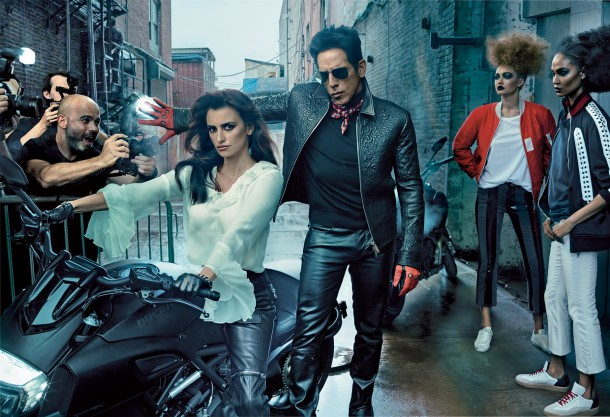 ben stiller penelope cruz vogue cover february 2016 zoolander 2 01 1 610x417 Derek Zoolander a Penelope Cruz na obálke Vogue