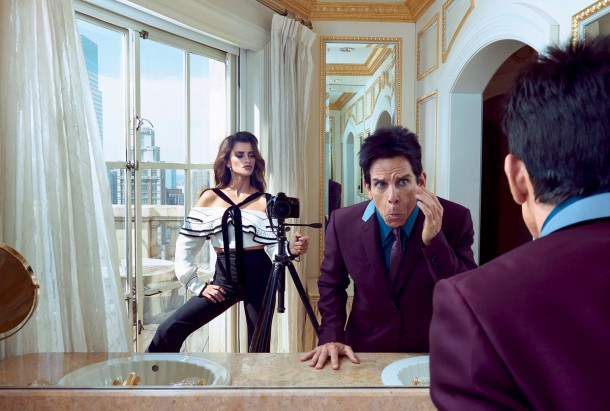ben stiller penelope cruz vogue cover february 2016 zoolander 2 05 610x411 Derek Zoolander a Penelope Cruz na obálke Vogue