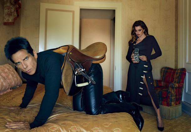 ben stiller penelope cruz vogue cover february 2016 zoolander 2 06 610x423 Derek Zoolander a Penelope Cruz na obálke Vogue