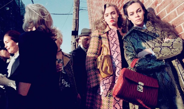 maddison brown hailey gates mia goth stacy martin by steven meisel for miu miu fall winter 2015 2016 610x362 Exkluzívne: MIU MIU predstavila novú hudobnú aplikáciu Miu Miusic