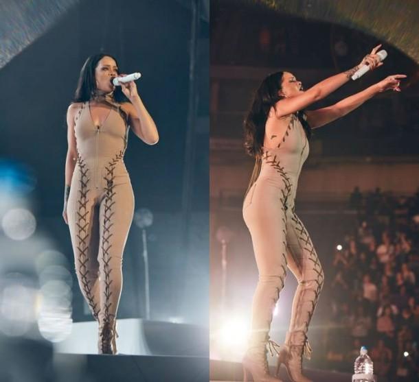 rihanna anti tour adam selman jumpsuit 610x557 Štýl neštýl: Rihanna na Anti Tour