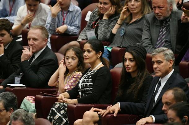 George Amal Clooney Meet Pope Francis May 2016 610x406 Prázdniny v Ríme