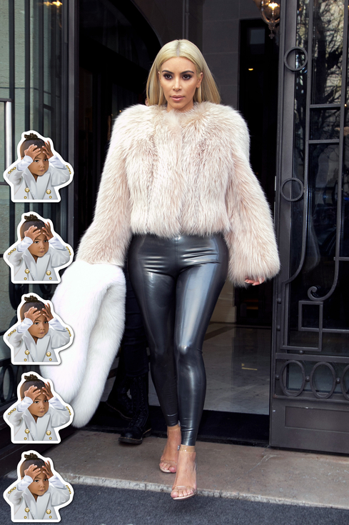 kim k fur Kardashianky v latexe a Not Having It North Kimoji
