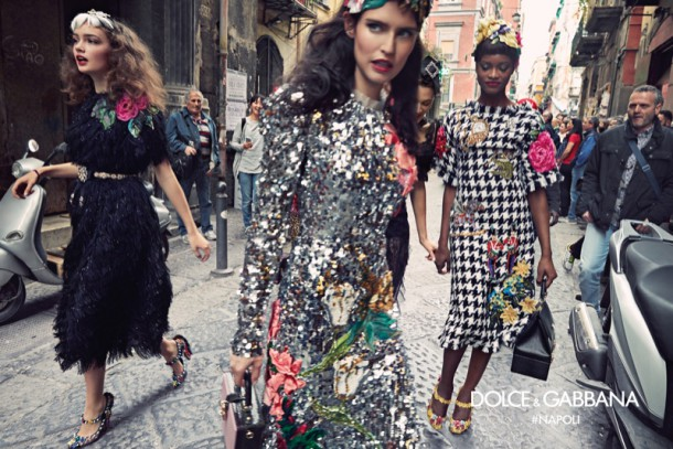 sasha kichigina bianca balti and mayowa nicholas star in dolce gabbanas fall winter 2016 campaign 610x407 Kampane Fall 2016