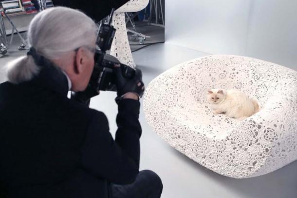 22052019 StajlSK Choupettee Lagerfeld 12 610x406 Štýlový život mačky Choupette Lagerfeld.
