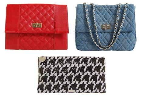 mango chanel houndstooth Stajl v obchodoch: Houndstooth (kohútia stopa) a kabelky a la Chanel