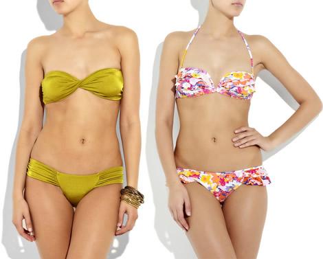 6fda148fe Menšie a stredné veľkosti si tiež môžu dovoliť bandeau strihy, naopak, ženy  s väčšími prsiami by sa im z praktických dôvodov mali skôr vyhýbať. (Plavky  z ...