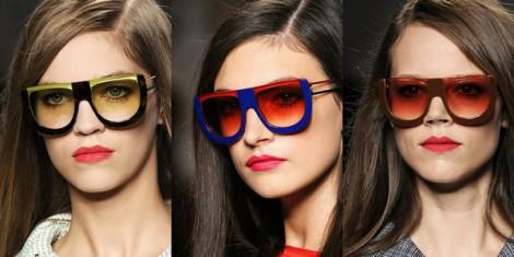 fendi sunglasses ss2011 0 470x235 Fendi pod okuliarmi oči neskrýva, zato matné pery majú hlavné slovo
