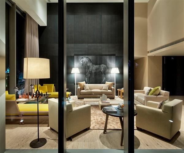 Living room by Hermes Svet má prvý apartmán zariadený značkou Hermés